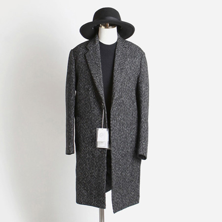 [BT2687]Herringbone Over Coat_black( 1 color M/L 사이즈 )