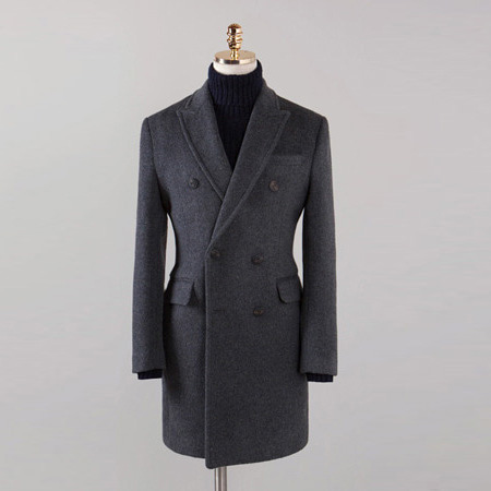 [BX2853]Double Cashmere Coat_charcoal( 1 color M/L/XL size )