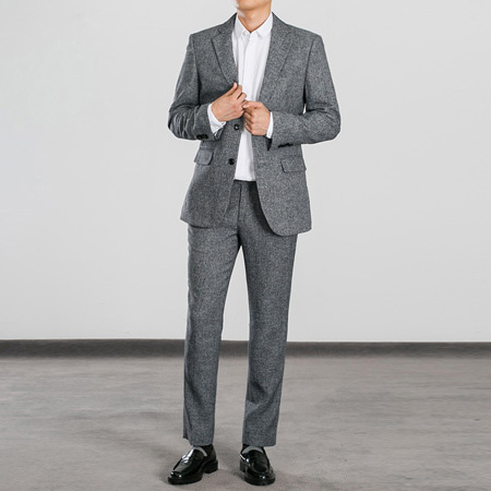 [BS0752]Two-tone Black Suit( 1 color S~XL size )