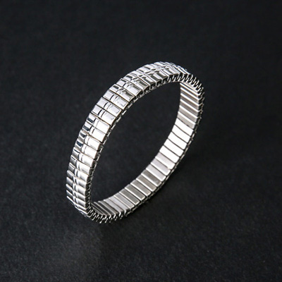 [BL0835]Flexible Bracelet-Silver( 1 color Free size )