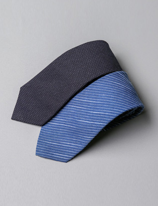 [BT2718]Double Stripe Tie( 2 color Free size )