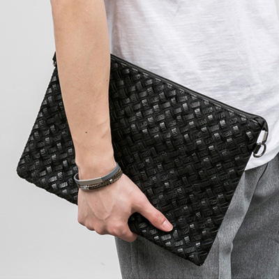 [BF1011]Touch Mosaic Clutch( 2 color Free size )