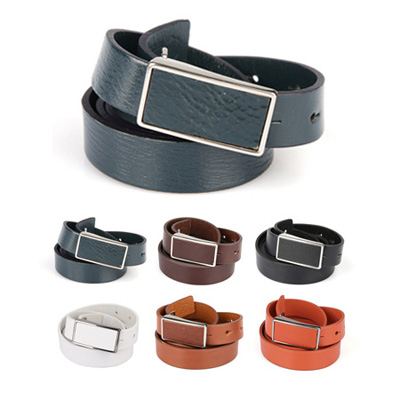 [BJ2881]Simple Leather Belt( 6 color Free size )