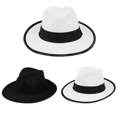 [BF1854]Boston Line Fedora ( 2 color Free size )