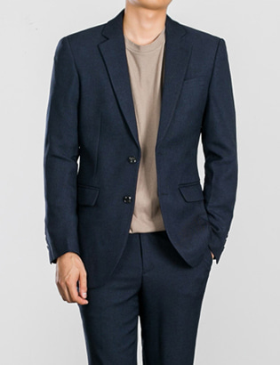 [BS0751]Two-tone Navy Jacket( 1 color S~XL size )
