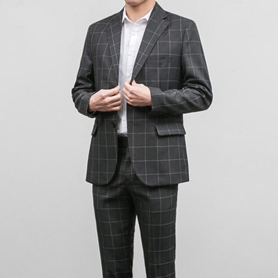 [BB0859]Chess Pattern Blazer( 1 color S/M/L size )