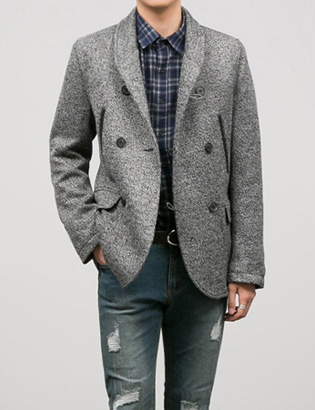 [BT2052]Raw Cut Blazer_Grey( 1 color S/M/L size )