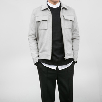 [BA2537]Modern Suede Jacket( 3 color M/L size )