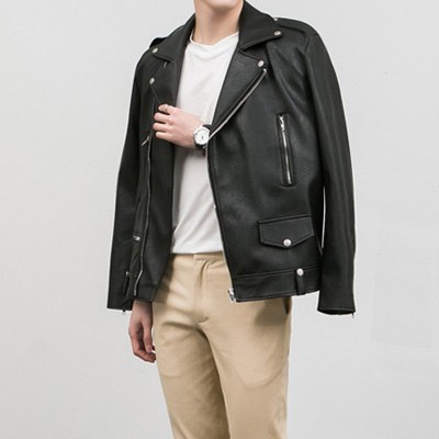 [BE0522]Tokyo Leather Jacket( 1 color L/XL size )