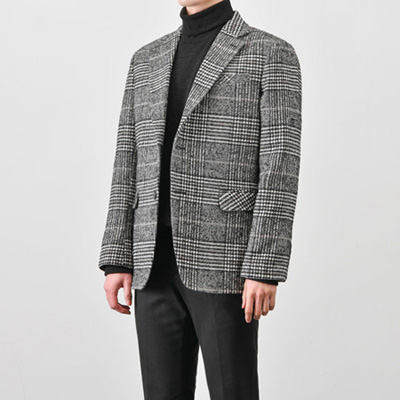 [BX1092]Glen Check Jacket( 1 color S/M/L size )