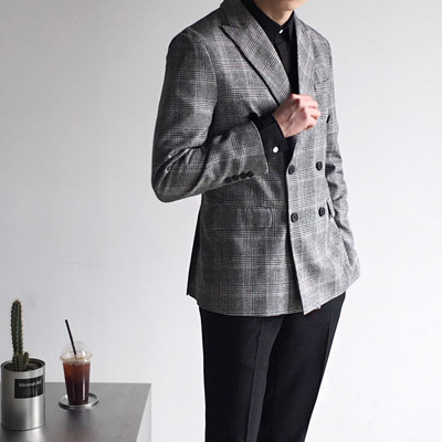 [BC0226]Homme Duble Button Jacket ( 1 color M/L/XL size )