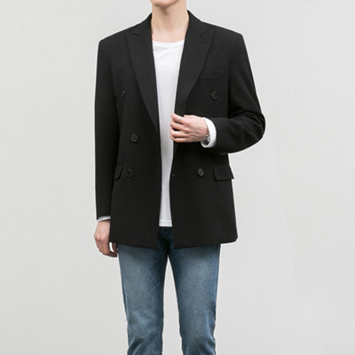 [BC1550]Firenze double Jacket - Black( 1 color M/L/XL size )