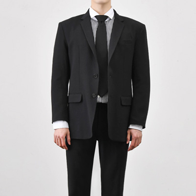 [BC2894]Mas Single blazer-Black( 1 color M/L/XL size )