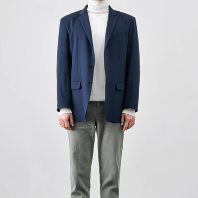 [BC2895]Mas Single blazer-Navy( 1 color M/L/XL size )