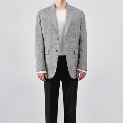 [BB0878]Daily Check Jacket( 1 color M/L size )
