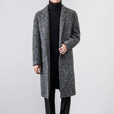 [BT1864]Tweed Long Coat( 1 color M~XXXL size )