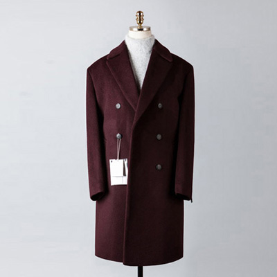 [BT2677]Cashmere Double Over Coat_wine( 1 color M/L 사이즈 )