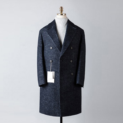 [BT2682]Plain Double Over Coat_navy( 1 color M/L 사이즈 )