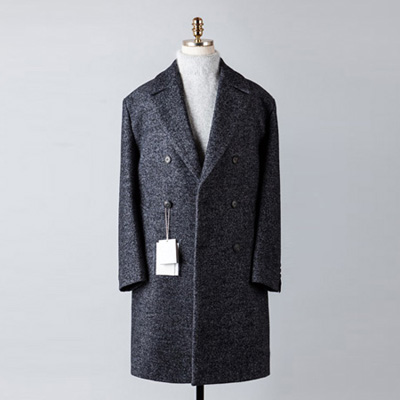 [BT2684]Herringbone Double Over Coat_navy( 1 color M/L 사이즈 )
