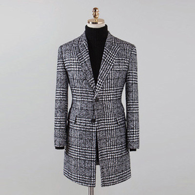 [BT2688]Wool Check Single Coat( 1 color M/L/XL 사이즈 )