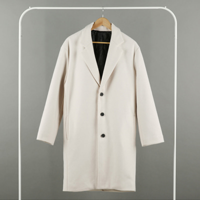 [BX0140]Daily Over Coat - Ivory( 1 color Free size )