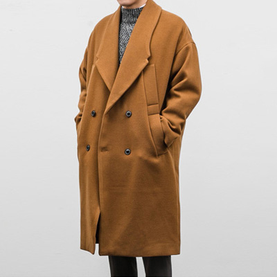 [BX2433]Double Pocket Coat( 3 color Free size )