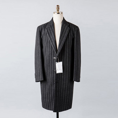 [BX2847]Stripe Wool Over Coat_charcoal( 1 color M/L size )
