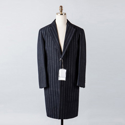 [BX2848]Stripe Wool Over Coat_navy( 1 color M/L size )