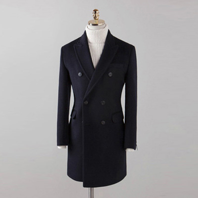 [BX2854]Double Double Coat_navy( 1 color M/L/XL size )