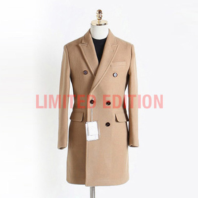 [BX2856]Double Cashmere Coat_begie( 1 color M/L/XL size )