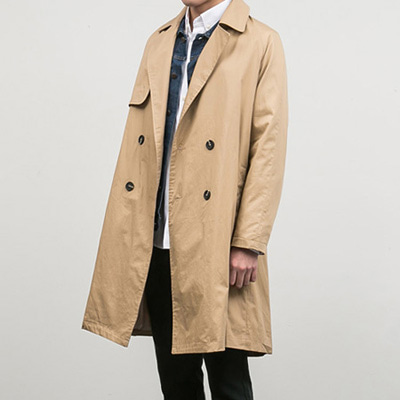[BB0870]Basic Trench Coat( 2 color Free size )