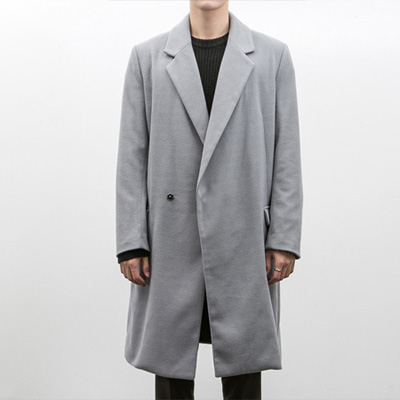 [BB1595]Gentle Hidden Snap Button Coat( 3 color L/XL size )