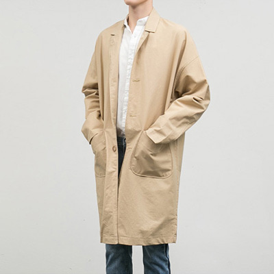 [BC2271]Boxy Linen Coat( 3 color Free size )