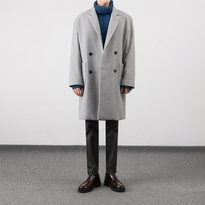 [BS2913]PUBLIC DOUBLE OVER COAT( 5 color L/XL size )