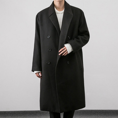 [BS2914]PUBLIC DOUBLE LONG COAT( 4 color L/XL size )
