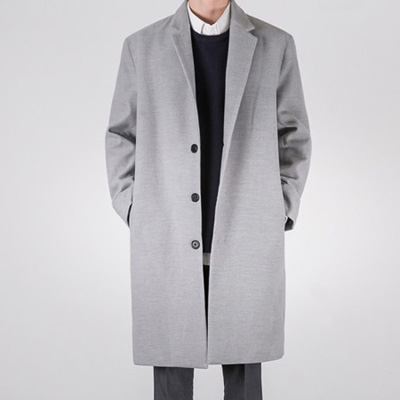 [BS2919]OVERLONG SINGLE COAT( 2 color L/XL size )