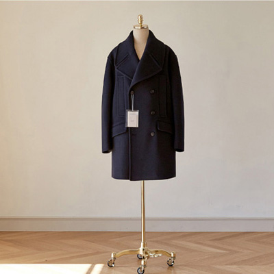 [BT2772]Siena Overfit Double Coat_navy ( 1 color M/L size )