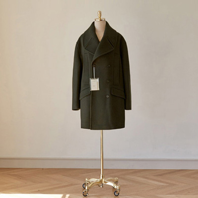 [BT2773]Siena Overfit Double Coat_khaki ( 1 color M/L size )
