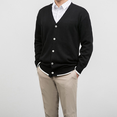 [BB0853]Point Line Cardigan( 2 color Free size )