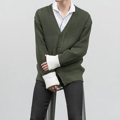 [BC0202]Long Sleeve Cardigan( 3 color Free size )