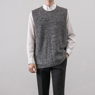 [BX0113]Humming Knit Vest( 3 color Free size )