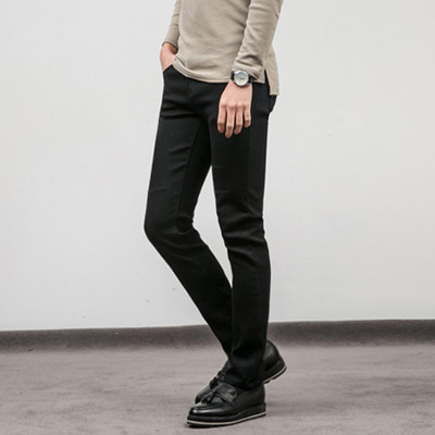 [BX0151]Scratch Black Jeans ( 1 color S~XL size )