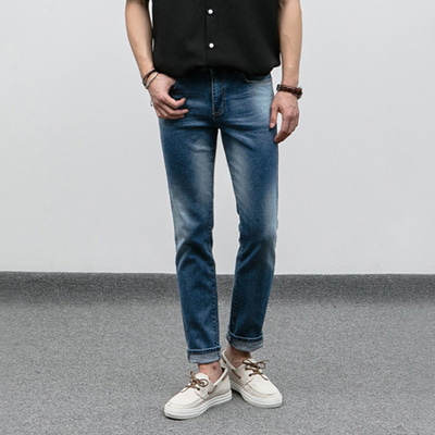 [BJ1624]Washed Denim Pants( 1 color S~XL size )