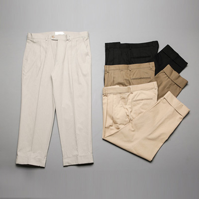 [BL0583]Wide chino pants( 4 color S/M/L size )