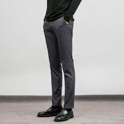 [BA1919]Stripe Classic Slacks - Grey( 1 color S/M/L size )