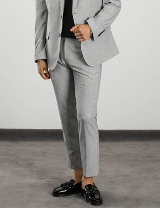[BL1395]Urban Slacks - Grey( 1 color S/M/L size )
