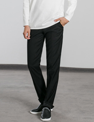 [BS0768]Morris Slacks - Black( 1 color M~XXL size )