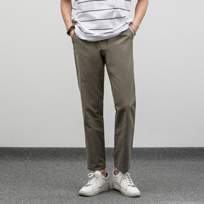 [BE2668]Straight Linen Pants( 4 color M/L size )