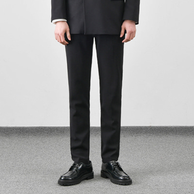 [BC1551]Wrinkle-Free Firenze Slacks - Black( 1 color M/L/XL size )