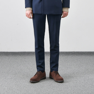 [BC1556]Wrinkle-Free Firenze Slacks - Navy( 1 color M/L/XL size )